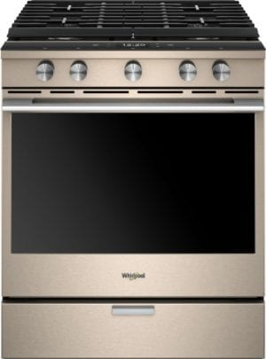 5.8 Cu. Ft. Self-Cleaning Slide-In Gas Convection Range Sunset bronze
