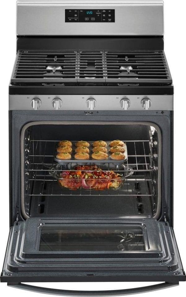 5.0 Cu. Ft. Self-Cleaning Freestanding Gas Range Stainless steel