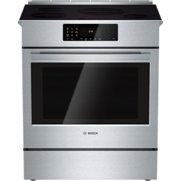 800 Series 4.6 Cu. Ft. Self-Cleaning Slide-In Electric Induction Convection Range Stainless steel