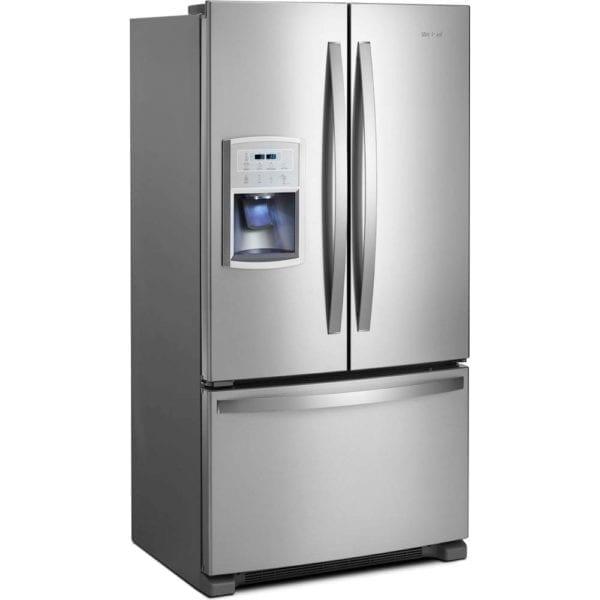 19.7 Cu. Ft. French Door Counter-Depth Refrigerator Stainless steel