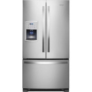 19.7 Cu. Ft. French Door Counter-Depth Refrigerator Stainless steel