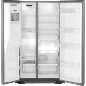 20.6 Cu. Ft. Side-by-Side Counter-Depth Refrigerator Stainless steel