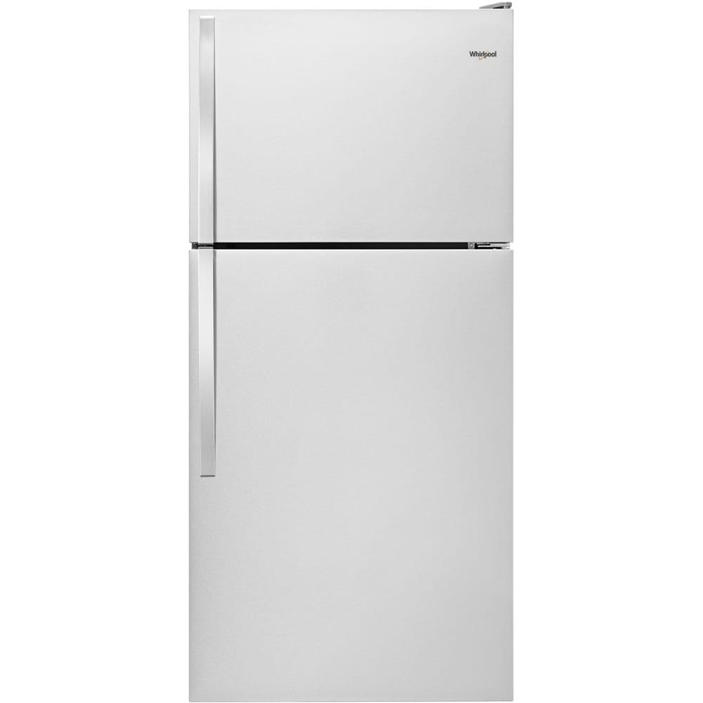 Ft top freezer refrigerator monochromatic stainless steel
