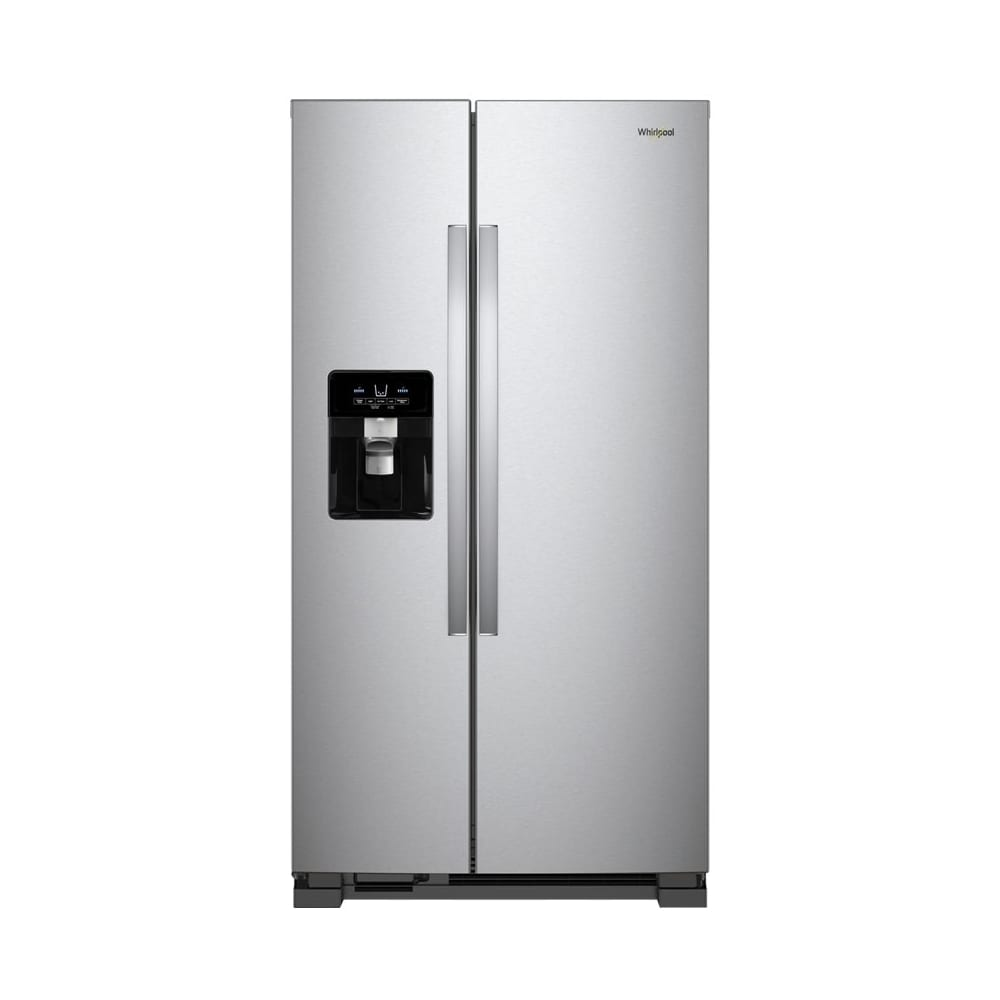 24 5 Cu Ft Side By Side Refrigerator Monochromatic Stainless Steel