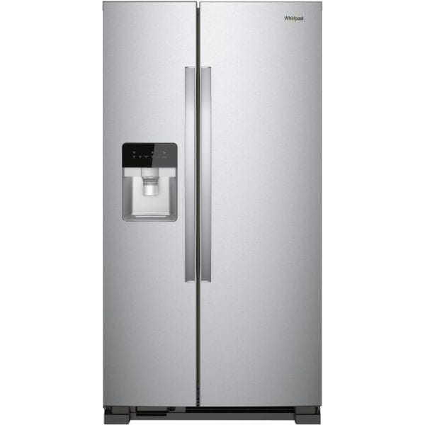 21.4 Cu. Ft. Side-by-Side Refrigerator Monochromatic Stainless Steel