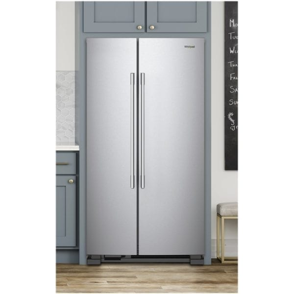 25.1 Cu. Ft. Side-by-Side Refrigerator Stainless steel