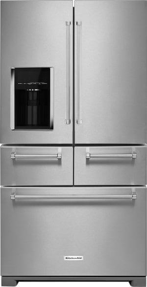 25.8 Cu. Ft. 5-Door French Door Refrigerator Stainless steel