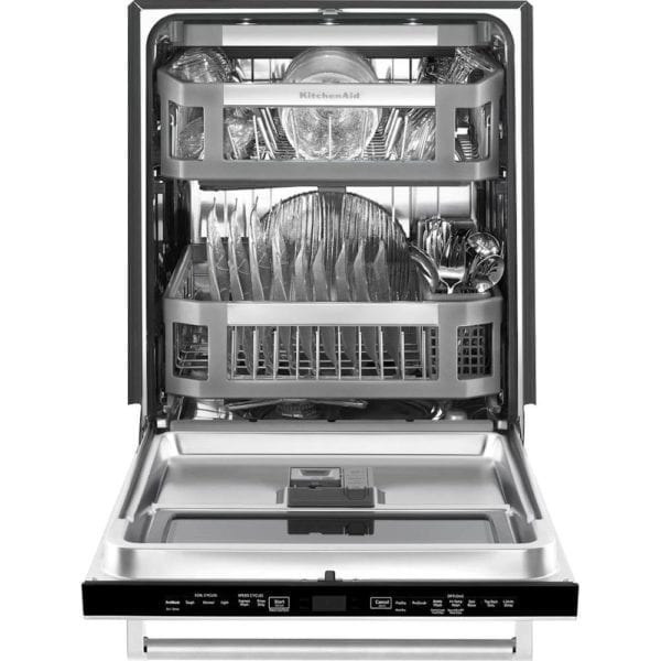 """24"""" Top Control Built-In Dishwasher with Stainless Steel Tub Stainless steel"""