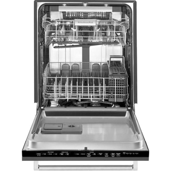 "24"" Top Control Built-In Dishwasher with Stainless Steel Tub Custom Panel Ready"