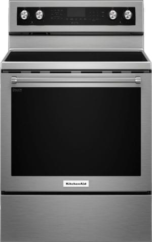 6.4 Cu. Ft. Self-Cleaning Freestanding Electric Convection Range Stainless steel