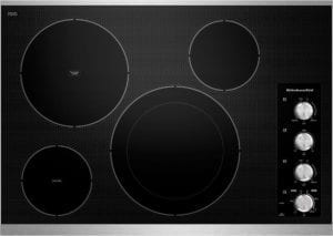 "30"" Built-In Electric Cooktop Stainless steel"