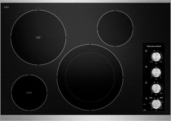 """30"""" Built-In Electric Cooktop Stainless steel"""