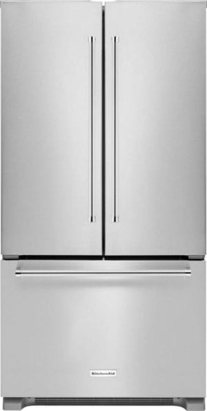 21.9 Cu. Ft. French Door Counter-Depth Refrigerator Stainless steel