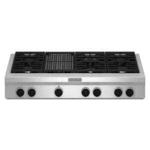 "48"" Built-In Gas Cooktop Stainless steel"