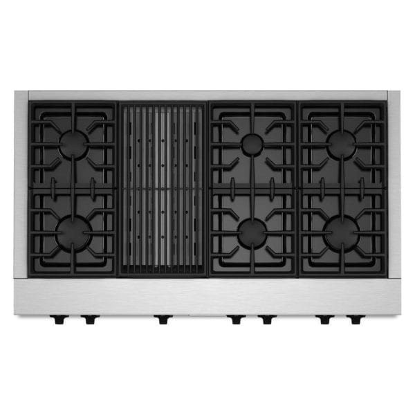 """48"""" Built-In Gas Cooktop Stainless steel"""