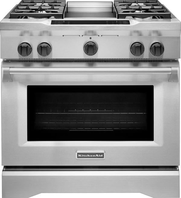 5.1 Cu. Ft. Self-Cleaning Freestanding Dual Fuel Convection Range Stainless steel