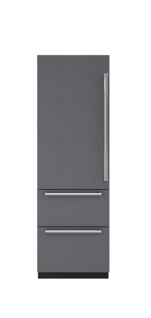 /sub-zero/full-size-refrigeration/integrated-fridges/27-inch-integrated-over-under-refrigerator-freezer-panel-ready