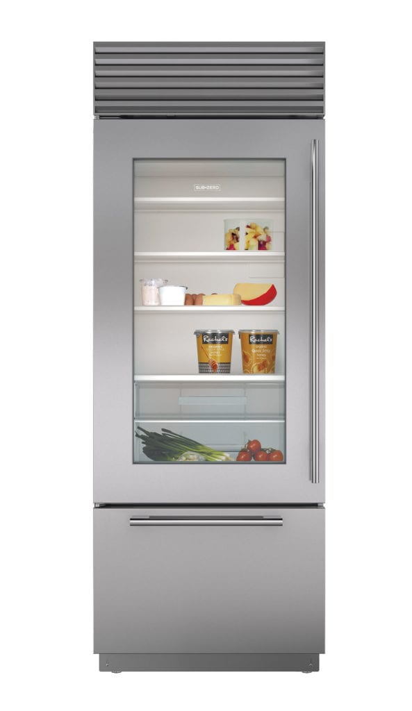 30 built in over and under glass door refrigerator freezer - Glass door refrigerator freezer ...