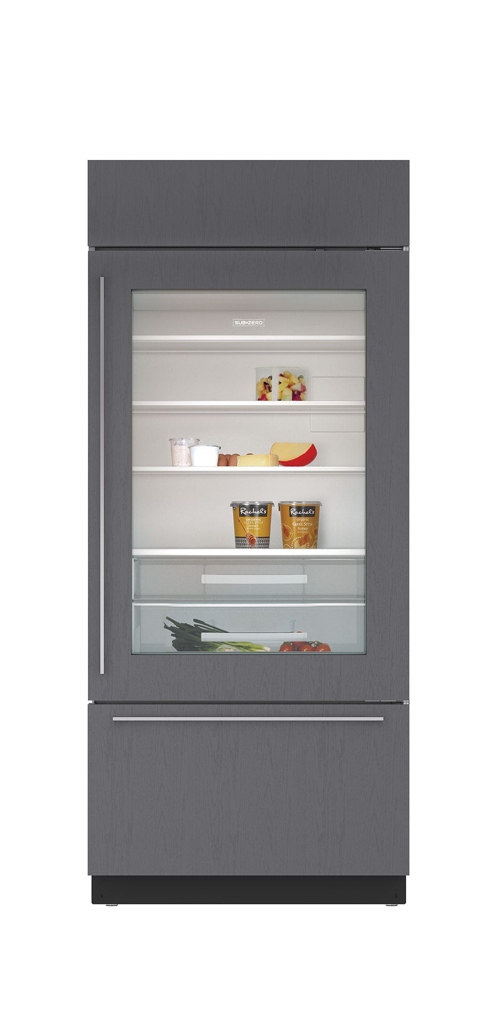 36 built in over and under glass door refrigerator freezer panel ready - Glass door refrigerator freezer ...