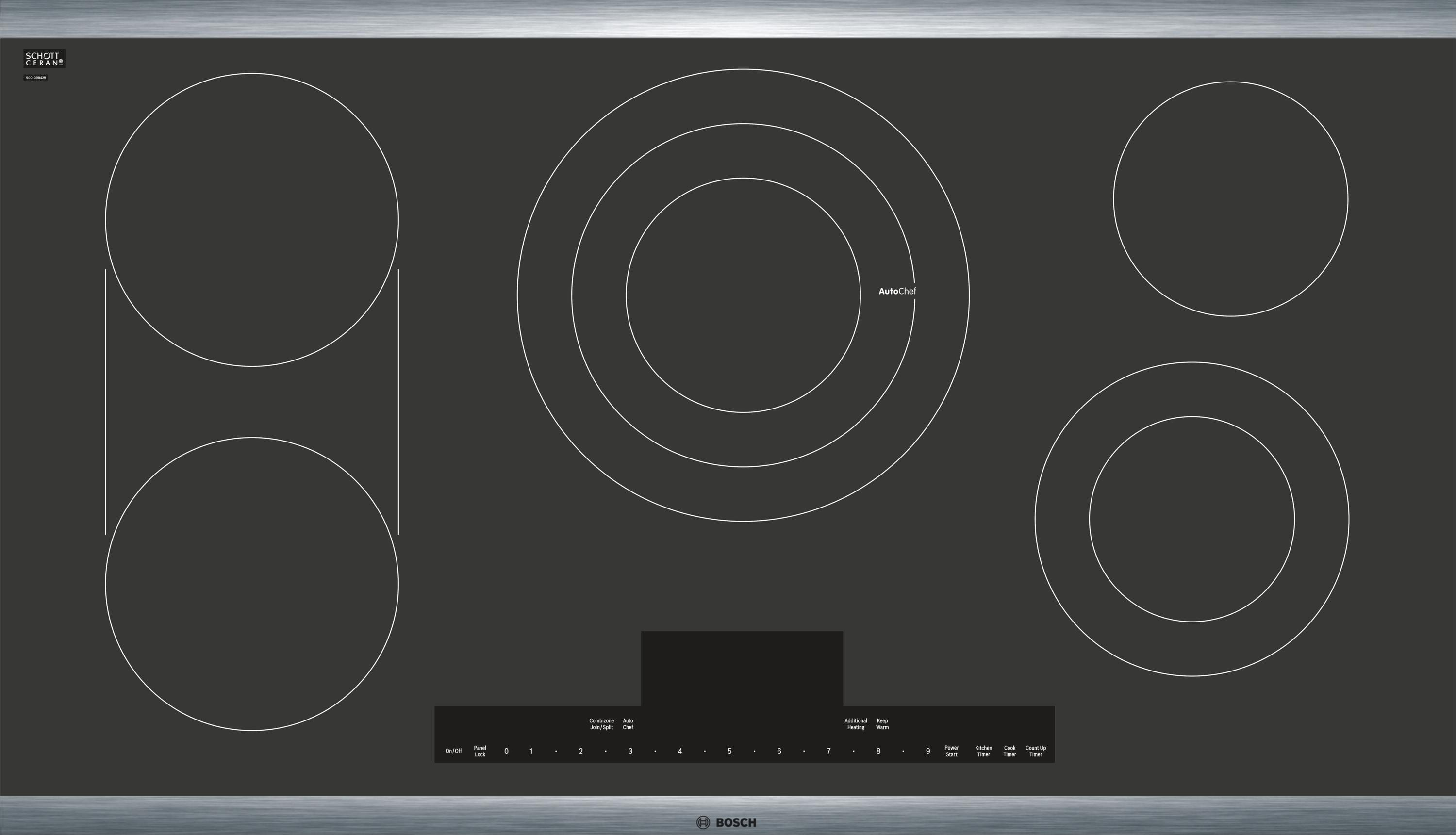 36 Quot Touch Control Electric Cooktop Black With Stainless