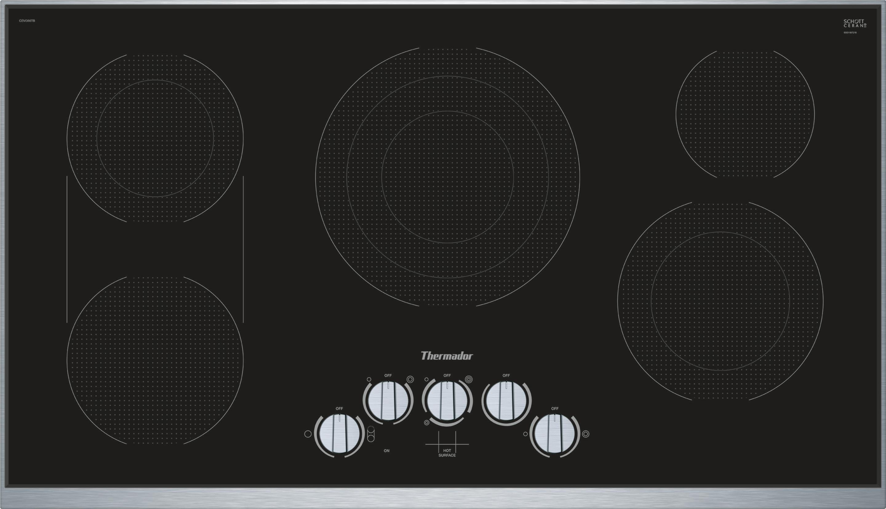 36 Inch Masterpiece Electric Cooktop