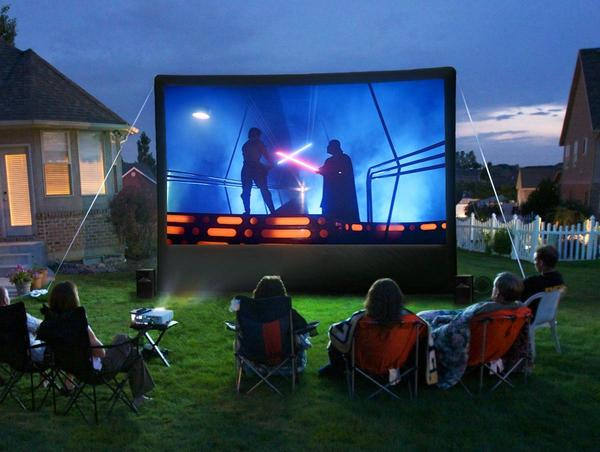 Backyard Theater System rockin' the block with a starpower outdoor home theater system
