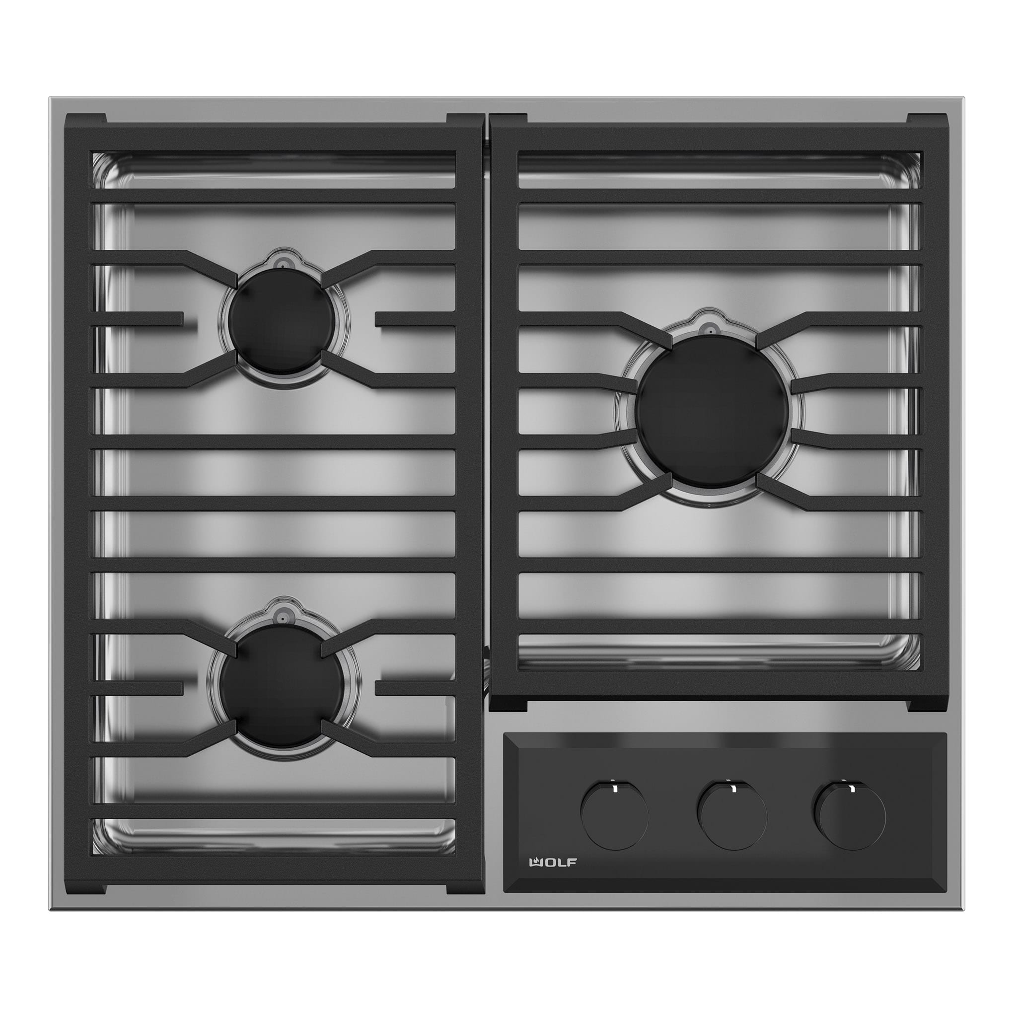 Wolf 24 Transitional Framed Gas Cooktop Cg243tf S