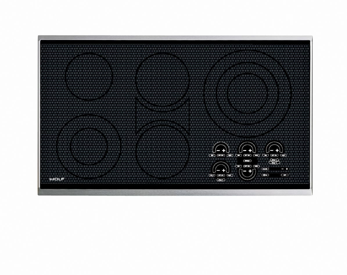 Wolf 36 Electric Cooktop Framed Ct36e S