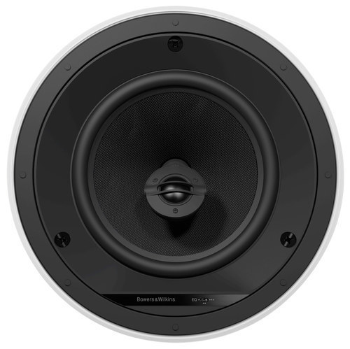 "8"" 2-Way Round In-Ceiling Speakers (Pair) White/Black"