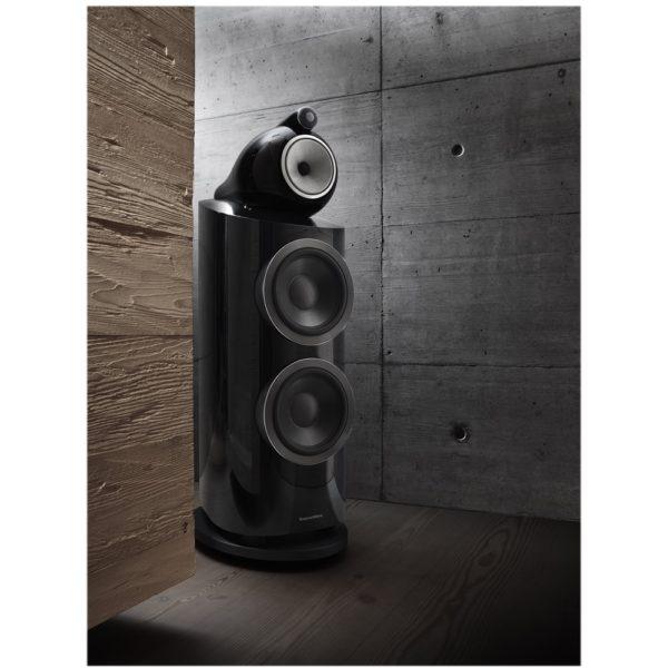 "800 Series Diamond Dual 10"" Passive 3-Way Floor Speaker (Each) Gloss black"