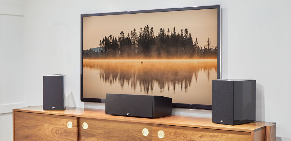 Television And Speakers