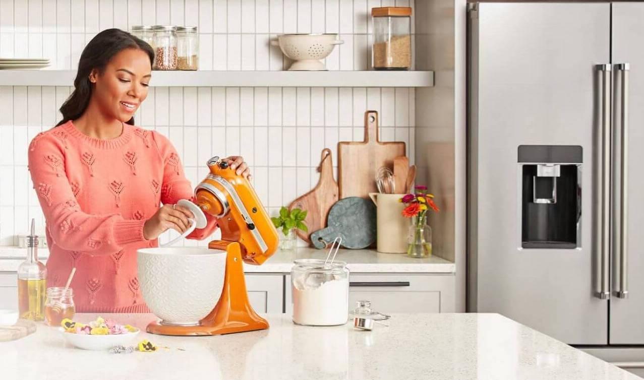 Woman At Mixer